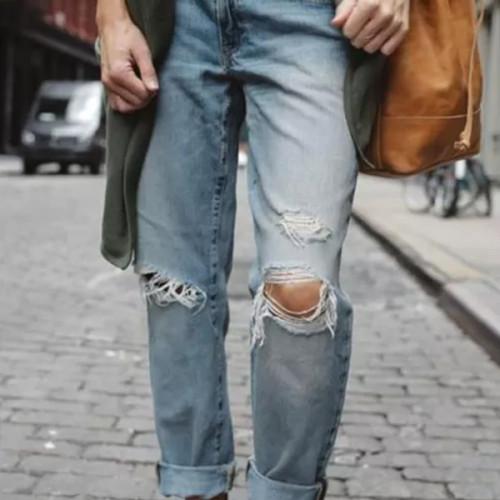 High Waist Jeans Classic Women's Loose Leggings Casual Ladies Trousers Female Pants