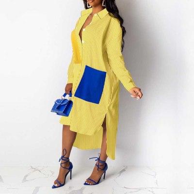 Midi Dress Loose Streetwear Female Oversize Casual Women Dress Plus Size