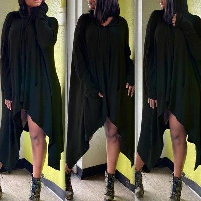 Women Dress Oversized Long Sleeve Female Plus Size Long Casual Dress