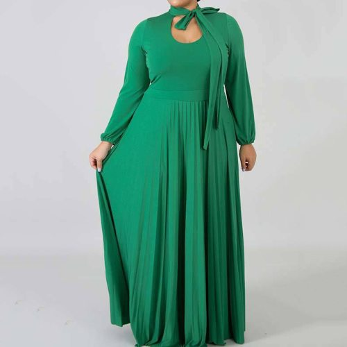 Casual Maxi Dress Women Plus Size Office Elegant Long Dress Female