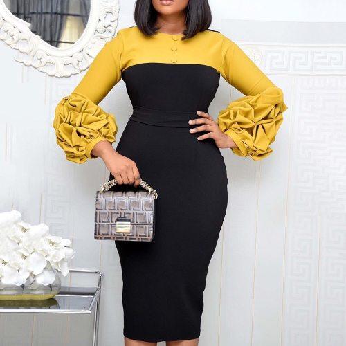 Elegant Party Women Bodycon Midi Dress Office Ladies Plus Size Dress