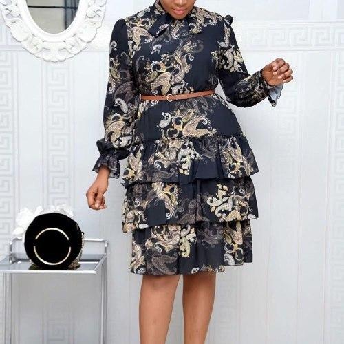 Fashion Dress Vintage Elegant Lady Work Wear Office Dresses