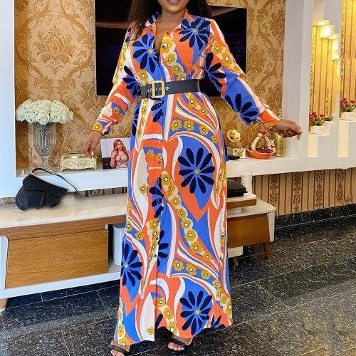 Plus Size Long Dress Casual Dresses Women Long Sleeve Large Sizes Female Maxi