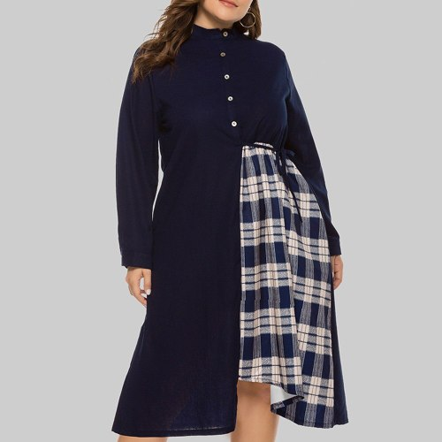 Dress Fashion Irregular Loose Round Neck Long Sleeve