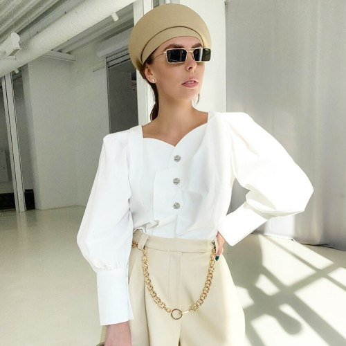 Women Blouse Vintage Shirt Streetwear Style Retro Elegant Top