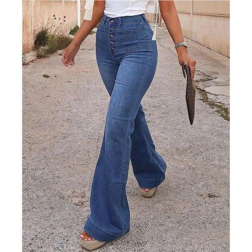 Jeans High Waist Vintage Cowboy Female Loose Streetwear Pants Long Trousers