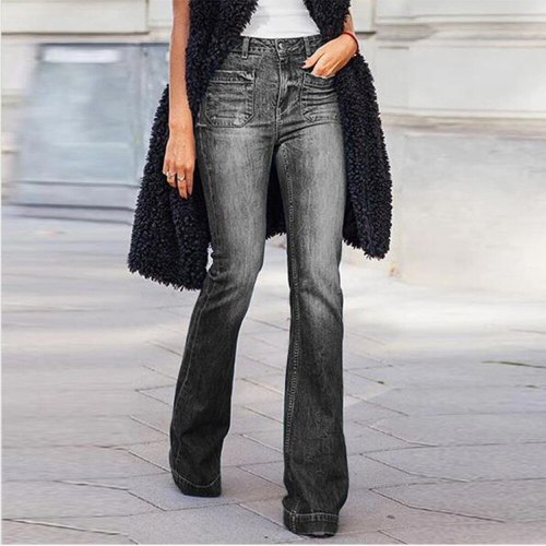 Classic Sexy Jeans Bell Pants Women Vintage Fashion Jeans Casual Trousers
