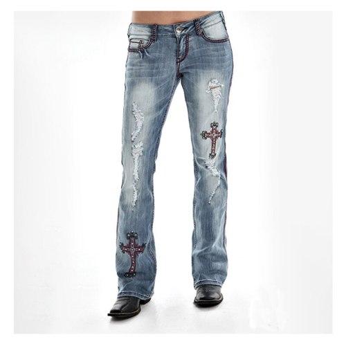 High Waist Jeans Classic Women's Denim Pants Fashion Style Casual Female Trousers