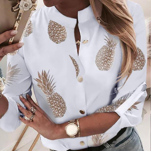 Ladies Fashion Wear Shirt Tops Elegant Sexy Retro Long Sleeve V Neck Casual Women