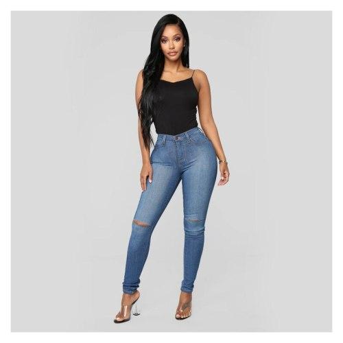 Jeans For Women Classic Skinny Leggings High Elastic Pants Tight Trousers