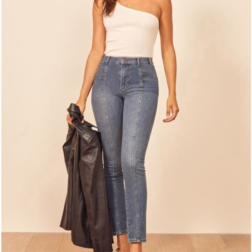 High Waist Jeans Women's Pants Retro Sexy Ankle Casual Fashion Trousers