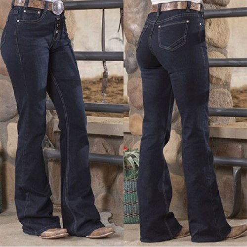 Woman High Waist Pants Female Loose Fashion Casual Jeans