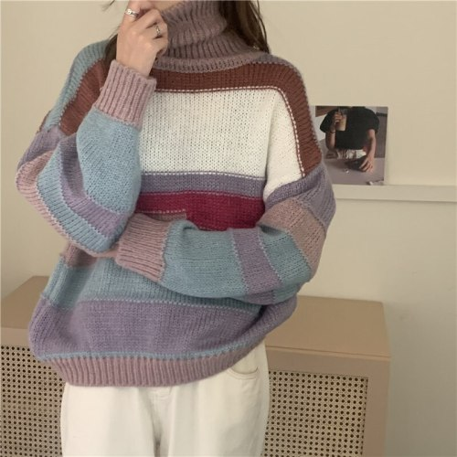 Women Sweater Style Oversize Vintage Lady Tops