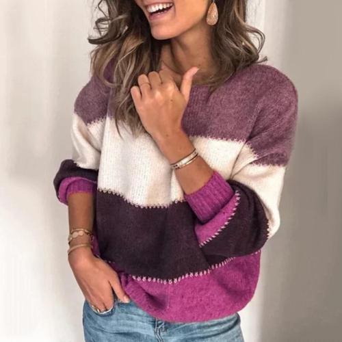 Fashion Women O Neck Long Sleeve Sweater Loose Women Clothing