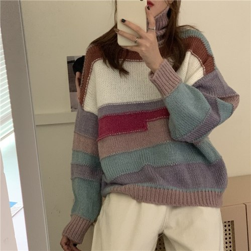 Women Sweater Style Oversize Vintage Lady Tops