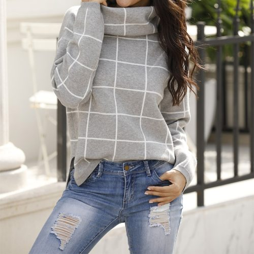 Knitted Women Sweater Waist Female Casual Loose Long