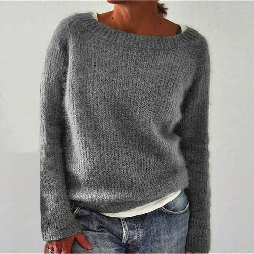 Women Casual Knit Sweater Long Sleeve Casual Loose Top Female Girl