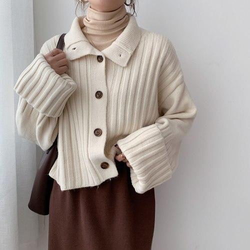 Women's Sweaters Short Oversize Elegant Lady Tops