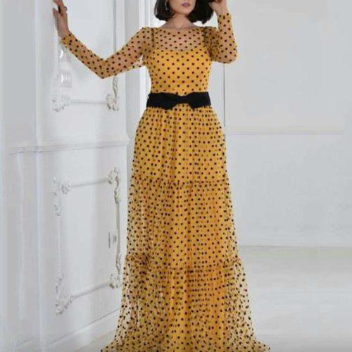Women Maxi Dress Vintage Plus Size Long Dresses