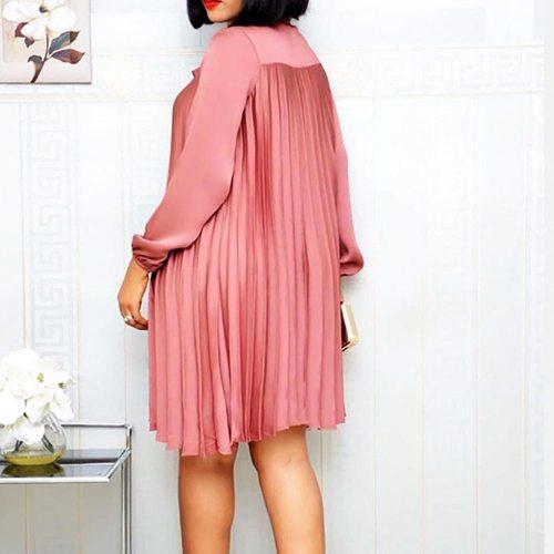 Plus Size Dress For Women Autumn Office Lady Elegant Midi Dresses Casual