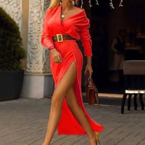 Women Sexy Dress Bodycon V-Neck Party Casual Fashion Female