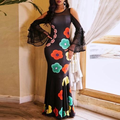 Women Sexy Long Evening Party Dress Vintage Long Dresses