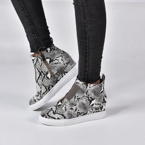 Wedge Heel Women'S Shoes Winter High Top Casual Shoes Thick Bottom Large Size Women'S Shoes 41-43