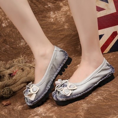 Spring And Autumn Shoes Flat Heel Soft Bottom Retro National Style Casual Women'S Shoes