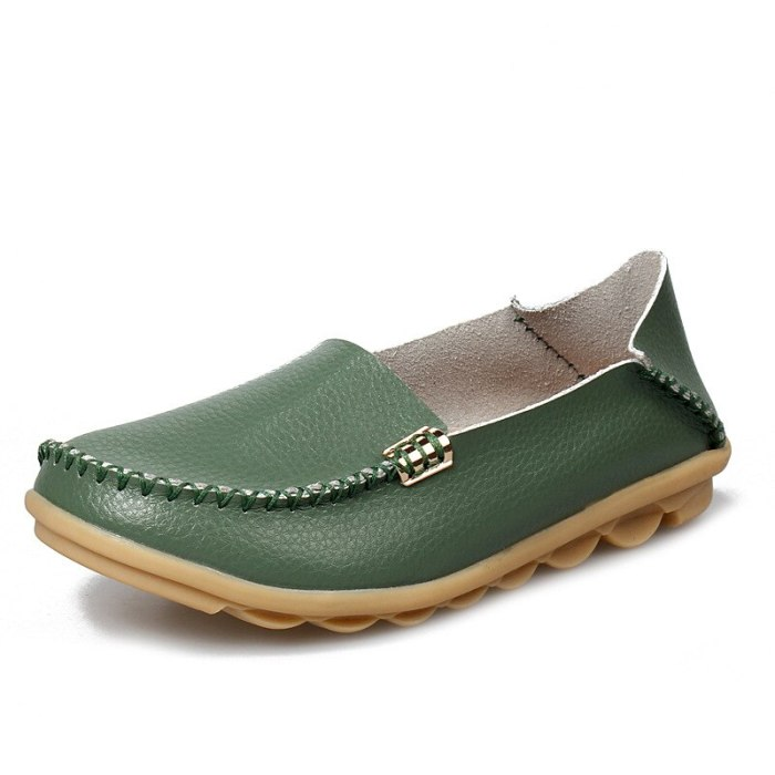 Flat Shoes Women Slip On Shoes For Women Genuine Leather Loafers Women Flats Ladies Shoes