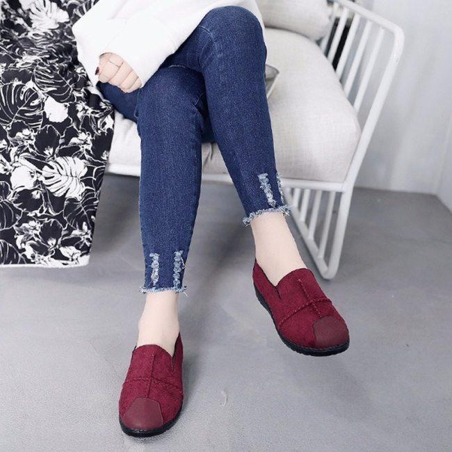 Plus Size 35-43 Women Flats shoes Loafers Candy Color Slip on Flat Shoes Comfortable Ladies shoe