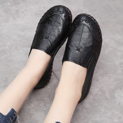 Spring New Retro Handmade Soft Bottom Women'S Shoes Cover Foot Casual Shoes Flat Bottom Single Shoes