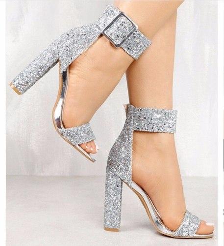Fashion Ladies High Heels  Pumps Women Shoes Woman Party Ankle Strap Chaussures Femme Pump Summer Sandals  10cm