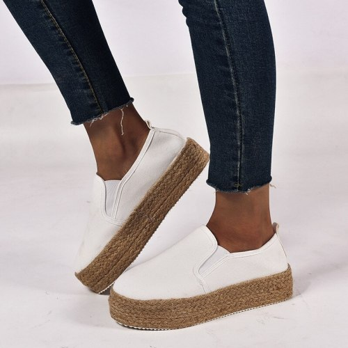 Women'S Shoes Spring And Summer New Sponge Cake Women'S Shoes Large Size Casual Hemp Rope Women'S Shoes