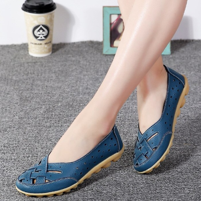 Flats For Women Comrfort Genuine Leather Flat Shoes Woman Slipony Loafers Ballet Shoes Female Moccasins Big Size 35-44