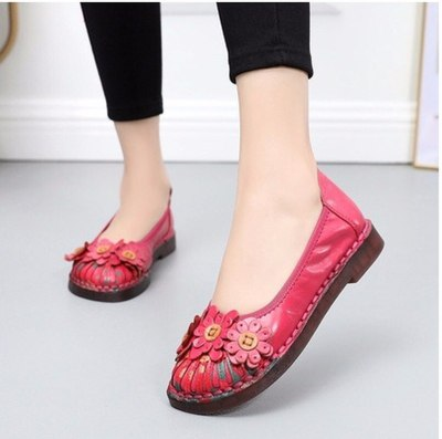 Summer Ladies Fashion Brand Women Shoes Elegant Comfort Woman's Casual OL Office Shoes Leisure Genuine Leather Shoe