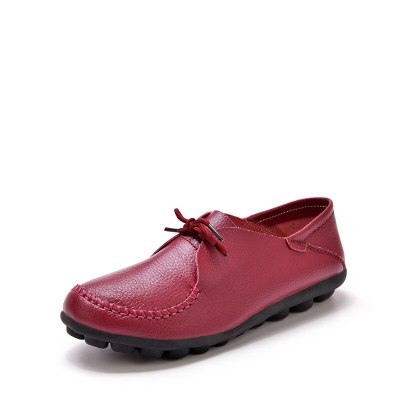Flat Shoes Women Genuine Leather Loafers Women Soft Sole Casual Flats Shoes For Women Students Oxford Shoes 35-44