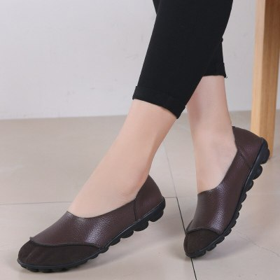 Summer Woman Soft Leisure Flats Leather Shoes Woman Moccasins Loafers Female Casual Driving Footwear Big Size 35~44