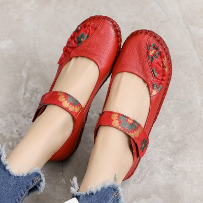 Genuine Leather Soft Bottom Women Flats Mother Shoes Comfort Oxford Shoes For Women Shoes Women Loafers Moccasins 35-42