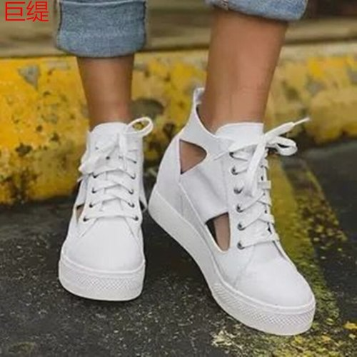 2021 Spring  Casual Shoes New Women's Flat Bottom Increased Casual Single Shoes Women's Lightweight Large Size Fashion Sandals