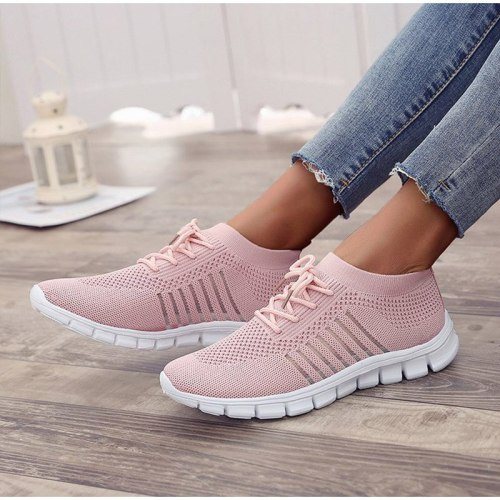 Women's Sneakers Spring Ladies Flat Shoes Casual Women Vulcanized Women 2021 Summer Mesh Breathable Female Running Shoes