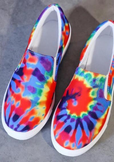 Women's Flats Colorful Woman Platform Loafers 2021 Female Autumn Footwear Plus Size 43 Slip On Elastic Band Comfort Ladies Shoes