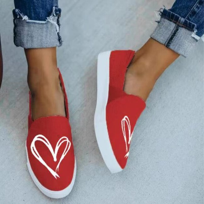 Women Shoes Casual Soft Flats Female Platform Women's Vulcanized Shoes Comfort Slip On Spring Ladies Canvas Shoes Loafers New