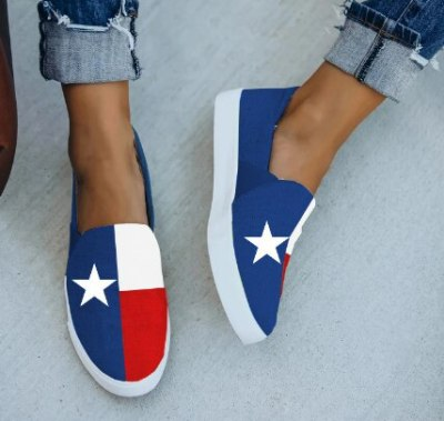 Denim Women Flats Casual Shoes Woman Jean Plus Size Cute Loafers Shoe Chaussures