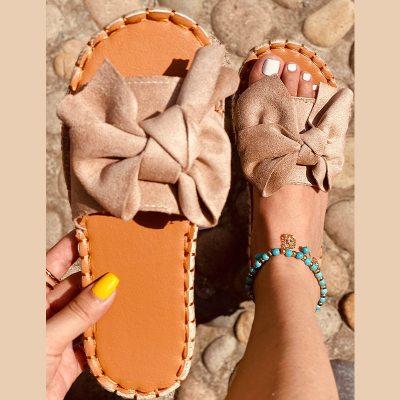 Women Slippers Summer Sandals Bowknot Casual Beach Shoes Ladies Fashion Shoe Female Flats Flip Flops New Slides Footwear