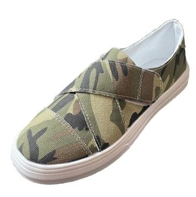 Hiking Canvas Women Shoe Mesh Flats Casual Shoes Woman Light Fabric Plus Size Chaussures Femme