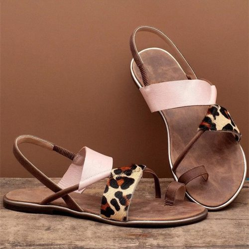 New Summer Comfortable Womens Flat Sandals High Quality Mixed Colors Leather Casual Flats Shoes Plus Size Women Sandals