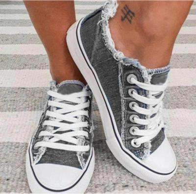 2021 Top Selling Women Canvas Shoes Denim Thin Casual Spring Autumn T-tied Low-top Leisure Students Shoes Matching All Choice