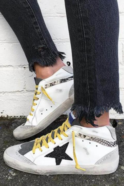 White Suede Sneakers with Lace Up  Vintage Shoes Woman Mid Heels Sandalias Leopard  Mujer Sapato Feminino E2015