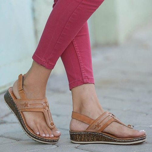 Women Summer Sandals Fashionable Roman Anti-skid Breathable Shoes Sandalias De Verano Para Mujer Ladies Sandals 2020 New