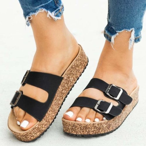 2021 Women Sandals Bohemia Retro Beach Woman Shoes Flat Ladies Summer Flats Platform Leopard Female Sandals Women's Plus Size